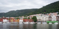 Row Houses and Hillside, Bergen